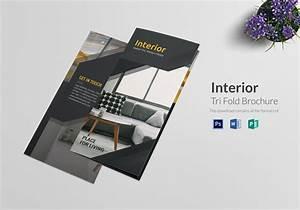 Tri Fold Interior Brochure Design Template in PSD, Word ...