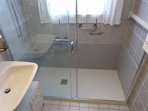 Kit Salle De Bain : transformation d 39 une baignoire en douche sanibad ~ Dailycaller-alerts.com Idées de Décoration