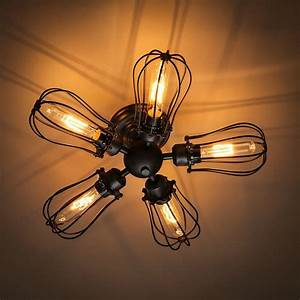 Fan industrial ceiling lights light retro american style