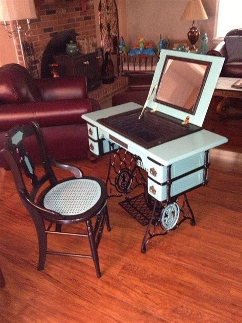 sewing machine desk ideas repurposed antique sewing machine the machine vanities