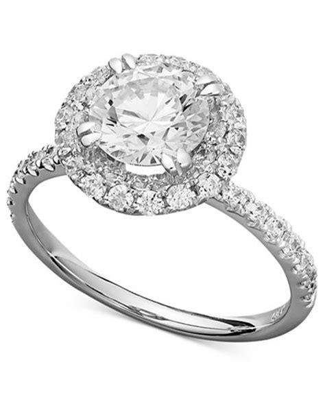 arabella 14k white gold ring swarovski zirconia pave engagement ring 3 1 2 ct t w