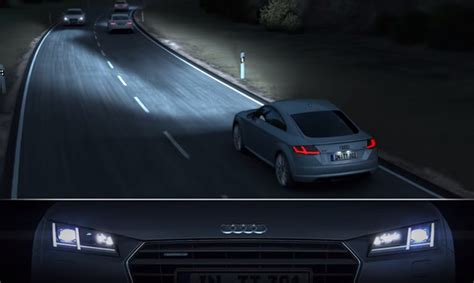 audi matrix headlights video audi shows off matrix headlights with tt gtspirit