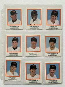 """The most comprehensive glossary of baseball card terms, abbreviations and, acronyms on the internet complete with pictures, and cross reference links. 1989 French-Bray Baltimore Oriole (26) EX+Baseball Card Set. 3""""x 2.5"""" Size Cards   eBay"""
