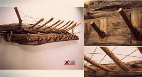 assembled  latvian river driftwood  elegant coat rack  turn  outware