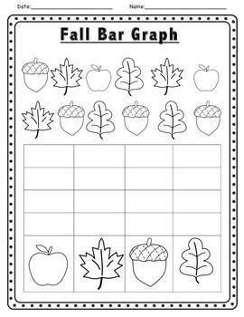 Fall Themed Math And Literacy Activities Fall Graph Kindergarten  Fichas Lectoescritura