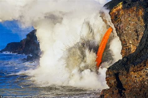 Stunning Images Show Lava Firehose From Kilauea Volcano