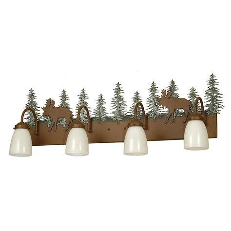 moose  trees vanity light cabin place