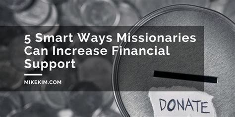 smart ways missionaries  raise  increase financial