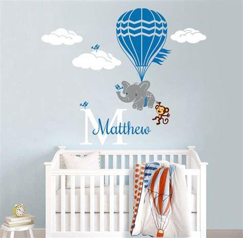 hot air balloon vinyl decals  nursery  child
