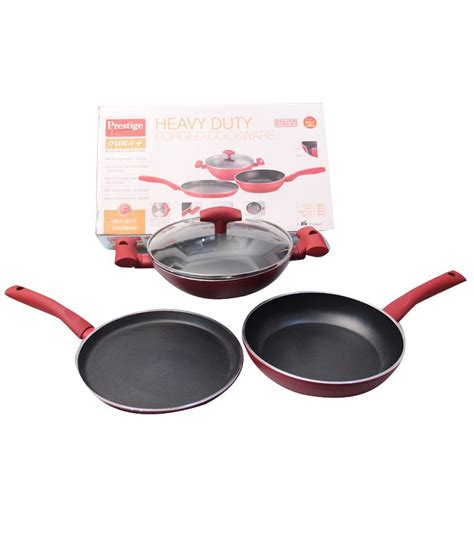prestige  stick cookware set  pcs buy    price  india snapdeal