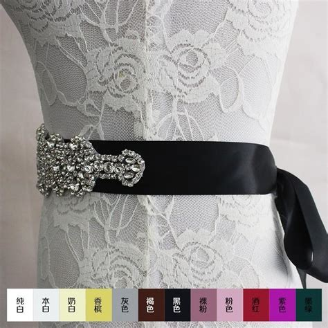 2016 new bride wedding belt luxury sparkling diamond diy