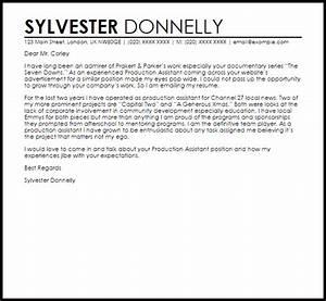 production assistant cover letter - Gidiye.redformapolitica.co
