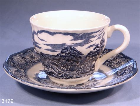Saucers For Planters by Old North Church Liberty Blue Vintage Tea Cup And Saucer
