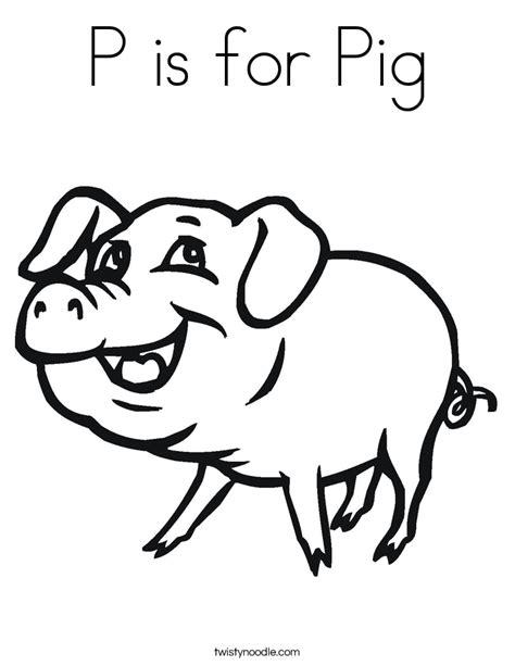 p   pig coloring page twisty noodle