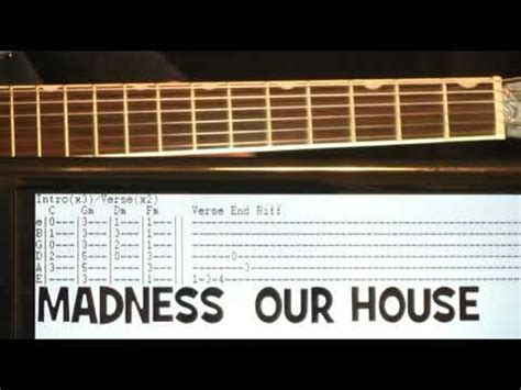 our house chords madness our house guitar chords lesson with tab