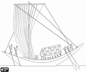 Barco De Vela Antiguo Dibujo by Colorear Un Barco A Vela En El Nilo Mesopotamia Y Egipto