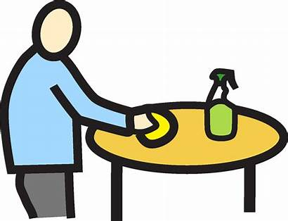 Wipe Table Clipart Clean Down Clip Counter