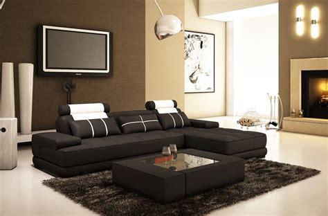mobilier de canapé d angle canapé d 39 angle en cuir 5 places mobilier privé