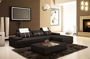 canape d39angle en cuir 5 places mobilier prive With tapis persan avec cuir italien canape