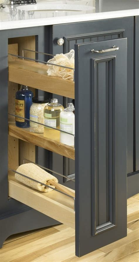 Pull out bathroom storage ideas for a clutter free
