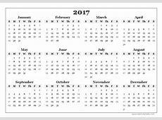 Blank 2017 Calendar monthly calendar 2017