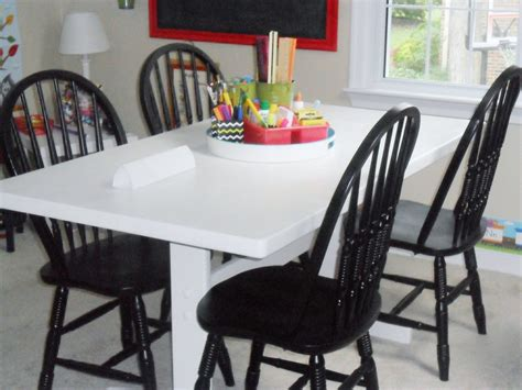 homeschool room table and chairs knock it