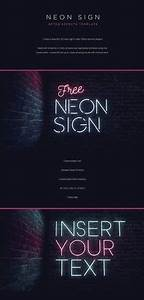 Free Neon Light Text Effect 17 2 MB