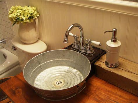 Galvanized-tub-sink-bathroom-craftsman-with-bathroom