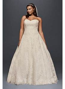 Allover beaded plus size ball gown wedding dress david39s for Plus size beaded wedding dresses