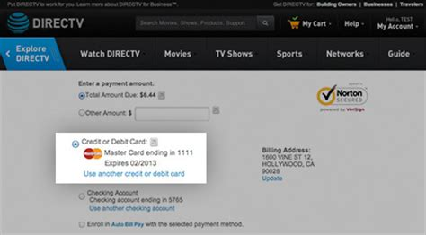 pay my directv bill by phone pay directv bills with credit card or bank account