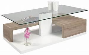 Table En Bois Design : table basse en verre et bois ~ Preciouscoupons.com Idées de Décoration