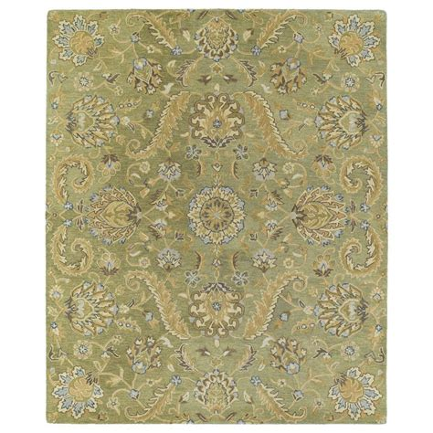 home depot area rugs 8x10 kaleen helena virgil green 8 ft x 10 ft area rug 3205 50