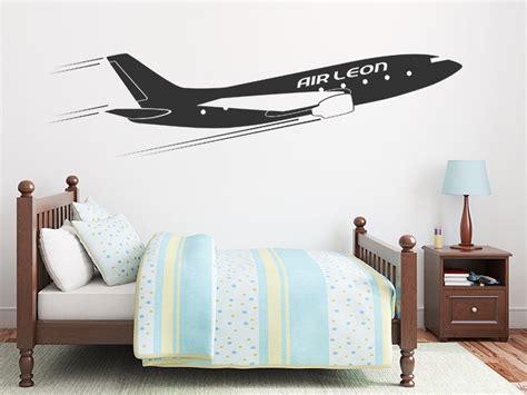Wandtattoo Kinderzimmer Flugzeug wandtattoo flugzeug mit name wandtattoos de