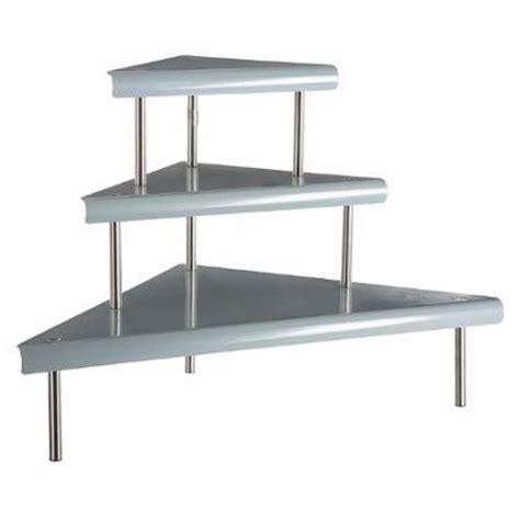 etagere angle cuisine étagère d 39 angle en métal 67cm gris