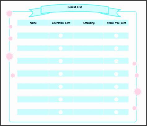party guest list maker sampletemplatess sampletemplatess