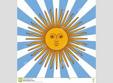Argentina Card Poster Illustration With Sun And Flag