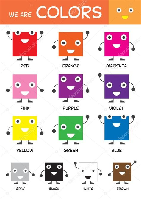 basic colors basic colors chart stock vector 169 muchmania 71985319