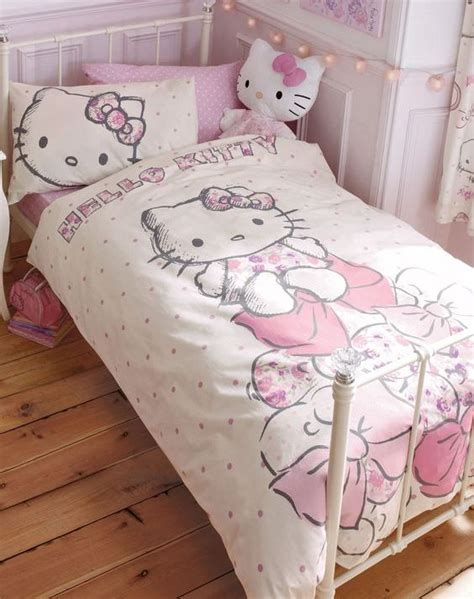 hello kitty bedroom sets 31 sweetest bedding ideas for girls bedrooms digsdigs 15542 | 28 Hello Kitty Bedding set