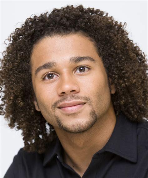 Corbin Bleu Medium Curly Casual Afro Hairstyle