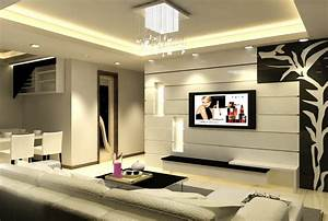 Wall design of lcd tv rift decorators