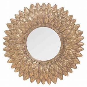 Miroir Doré Rond : miroir rond dor h 22 cm miroir rond maison du monde et miroirs ~ Teatrodelosmanantiales.com Idées de Décoration