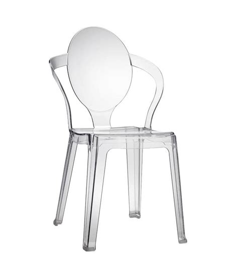 plastic chair with oval backrest stackable idfdesign