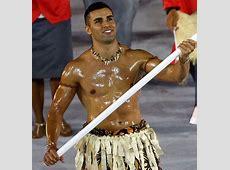 Tonga's Oiledup Flag Bearer Sends Social Media into