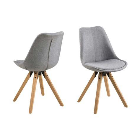 chaise gris clair chaise verdal gris clair le lot de 2 leen bakker