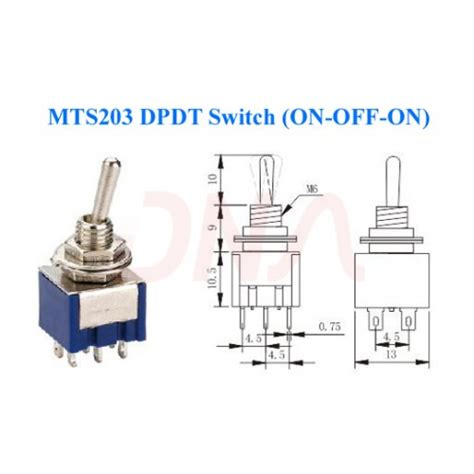 Buy Online Way Pole Off Type Dpdt Switch Low