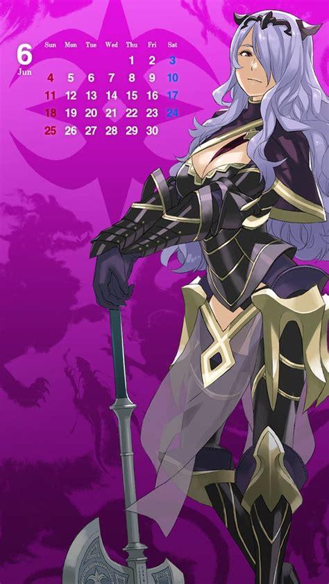 fire emblem heroes june calendar wallpapers featuring