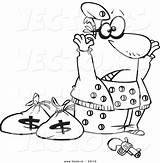 Coloring Pages Cartoon Robber Bank Surrendering Outline Robbers Cops Vector Ziggurat Riddled Holes Getcolorings Leishman Printable Monumental Getdrawings Template Ron sketch template