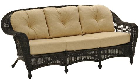 charleston wicker sofa outdoor by cape