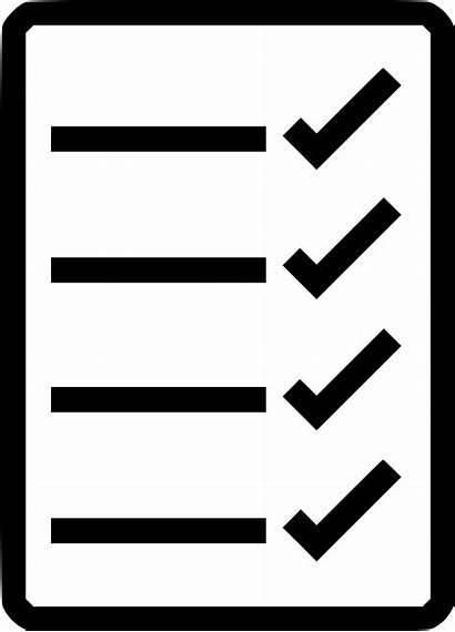 Checklist Icon Transparent Clipart Icons Svg Clip