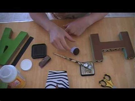 Diy Baby Name Block Letters Youtube